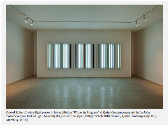 Great Robert Irwin profile in Los Angeles Times
